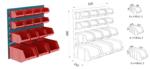support mural pour bacs à bec litrage variable