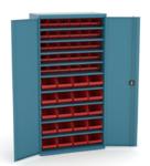 armoire metal avec 9 tablettes de bacs a bec