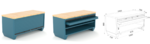 etabli compact dessus bois avec tiroirs