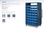 armoire mobile bacs plastiques
